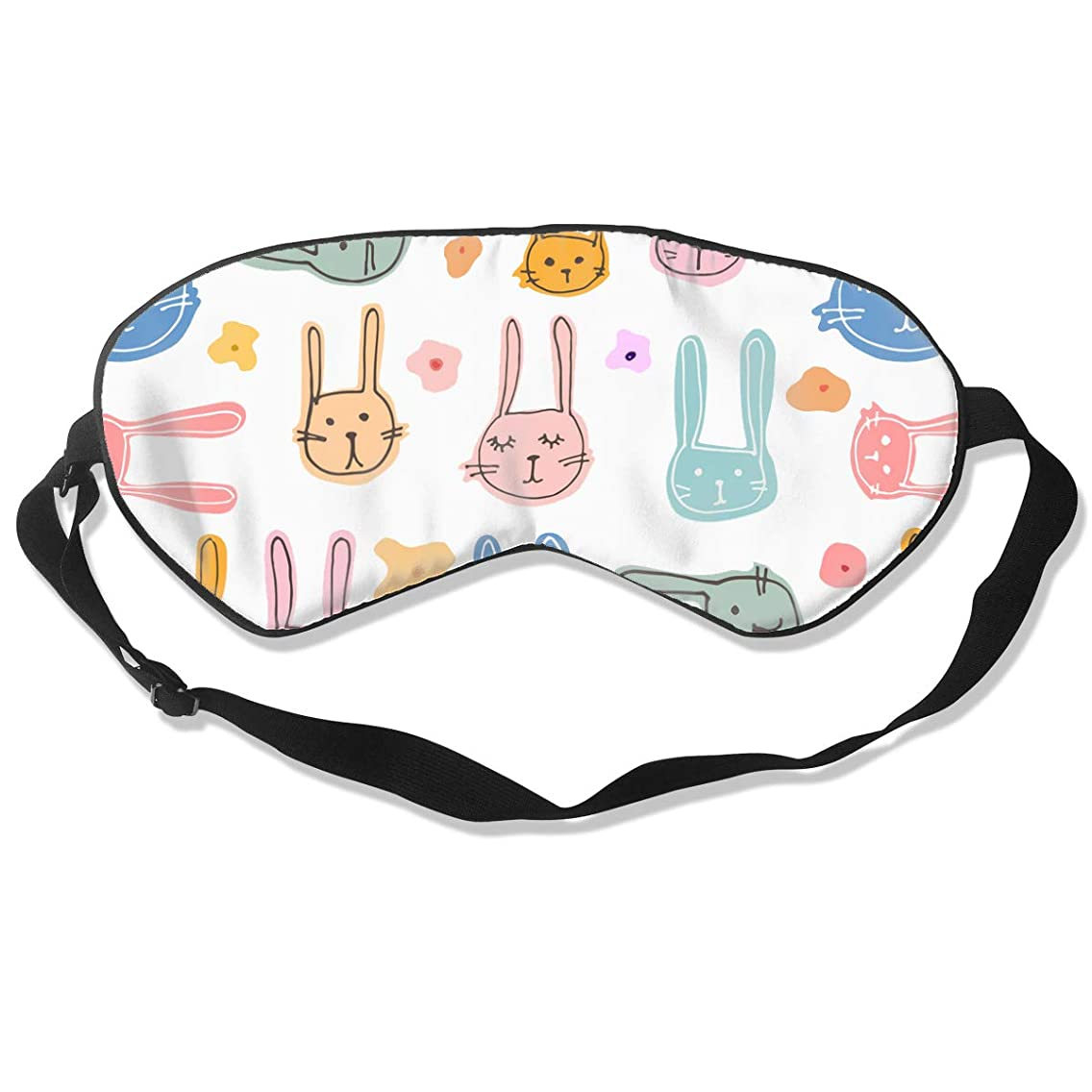 FSGRFERER Cute Bunny Best Sleeping Mask Eye Mask for Sleeping Eye Mask Cover for Travel, Nap,Blindfold with Adjustable Strap for Men, Women