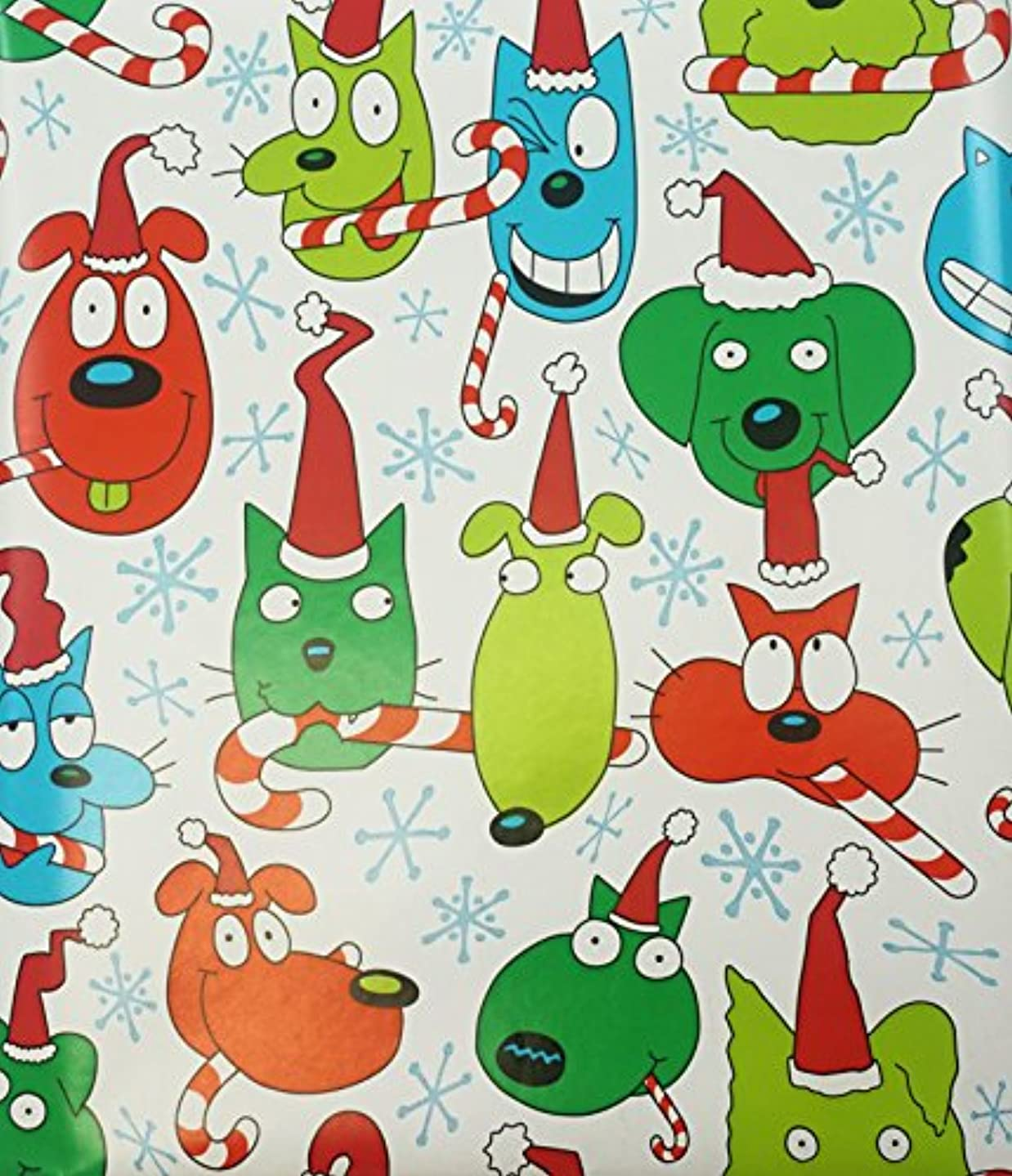 Holiday Animal Friends Glossy Gift Wrapping Roll - 24