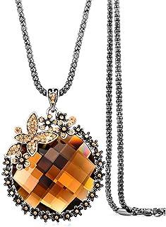 efigo Fashion Beaded Long Chain Necklace Bohemian Costume...