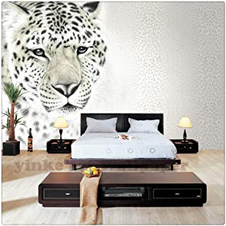 Custom Photo Wallpaper 3D Stereoscopic Black and White Leopard Wallpaper Living Room Bedroom Sofa Backdrop Wall Mural Wallpaper,210cmX140cm