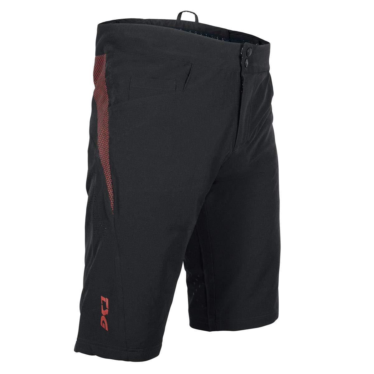 TSG Herren STG Sp4 Short Kurze Hose, Noir-Rouge-Vin, XL