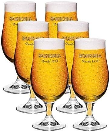 Conjunto Taças Copo para Cerveja Bohemia 380 ml 6 Peças