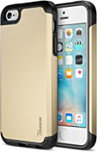iPhone SE Case, Trianium [Protak Series] Ultra Protective Cases for Apple iPhone SE (2016) & iPhone 5S 5 [Champagne Gold] Dual Layer + Shock-Absorbing Hard Bumper Cover
