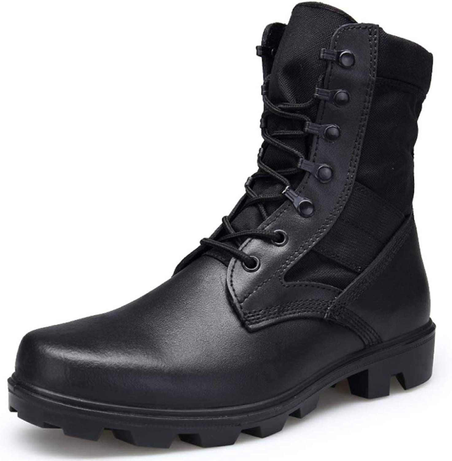 Tactical Boots Men's High-top Leather Waterproof Special Forces Military Boots Combat Boots Army Fan Desert Boots