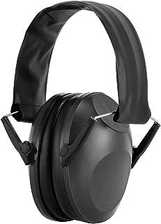 oenbopo 防音イヤーマフ プロテクター 折り畳み式 持ち運び便利 自閉症 聴覚過敏 騒音対策に対応 遮音値25dB フリサイズ 大人 子供兼用 狩猟 勉強 騒音対策等様々な用途に対応 2色 (ブラック)