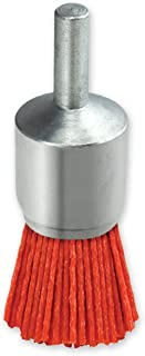 IVY Classic 39200 1-Inch x 1/4-Inch Round Shank, Nylon Abrasive End Brush - Coarse 80 Grit, 1/Card