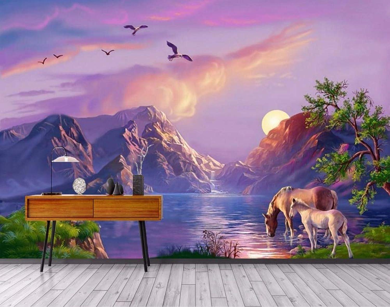 hasta un 70% de descuento Vinilo decorativo decorativo decorativo 3D Wallpapers HD landscape 3D Wallpaper Living room Bedroom 3D Photo Wallpaper Stereoscopic Oil Painting Wall Background-200X140CM  100% autentico