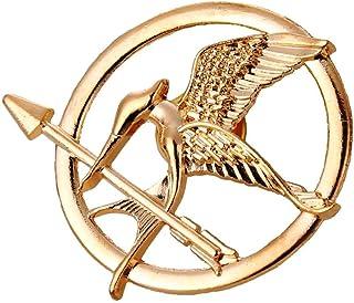 Broche réplica de pájaros de los juegos del hambre Sinsajo de los juegos del hambre, para disfraz, unisex, color dorado