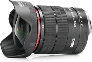 MEKE 6-11mm F/3.5 Wide Angle APS-C Manual Focus Zoom Lens for Canon EF Mount DSLR Cameras