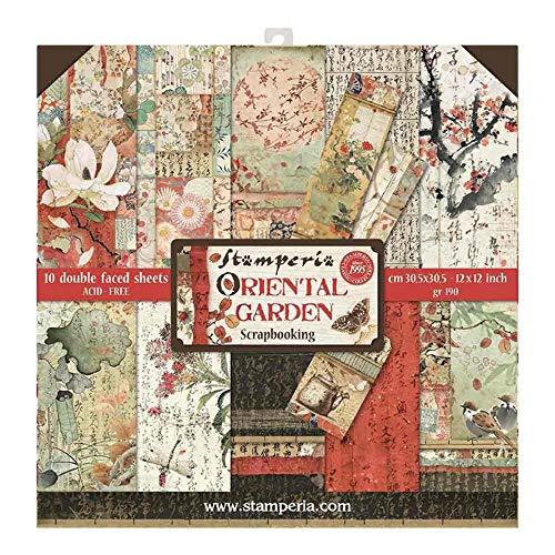 Stamperia International KFT Hojas de papel - jardín oriental, Multicolor,...