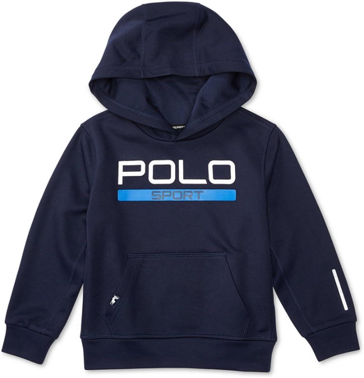 Ralph Lauren Polo Sport Boys Tech Fleece Pullover Hoodie (2/2T) French Navy