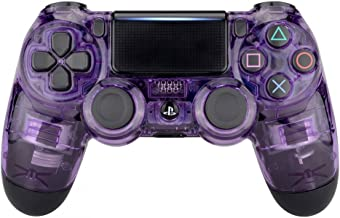 eXtremeRate Transparent Crystal Clear Purple Front Housing Shell Faceplate Cover for Playstation 4 PS4 Slim PS4 Pro Controller (CUH-ZCT2 JDM-040 JDM-050 JDM-055)