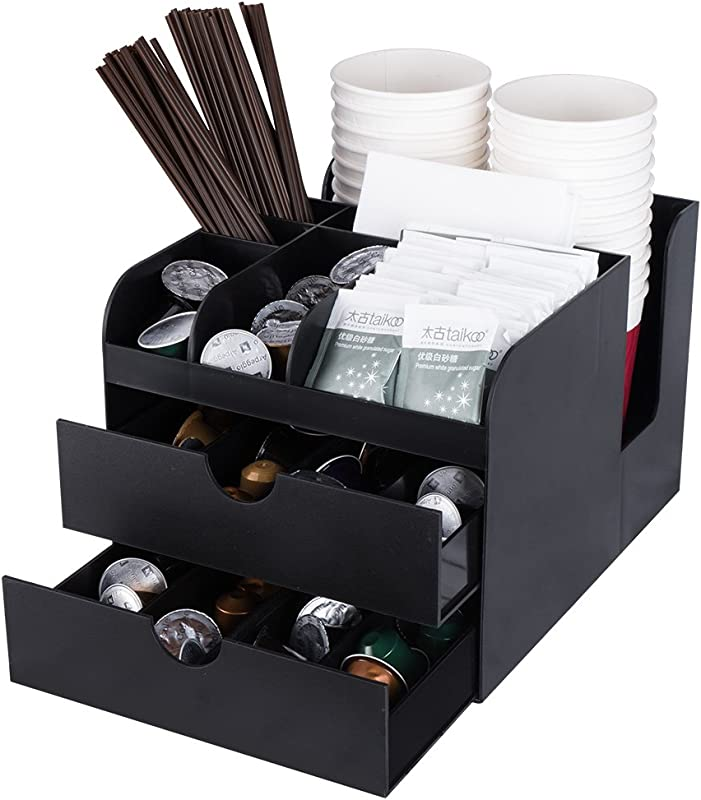 Vencer Coffee Condiment And Accessories Caddy Organizer Black