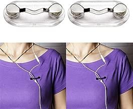 Ngel Stainless Steel Magnetic Eyeglasses Holder ID Badge Headphone Wires Sunglasses Brooch (4)