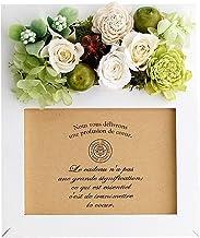 パラボッセオリジナル プリザーブドフラワー フォトフレームプリザ カンパーニュ グリーン ホワイト preserved flowers