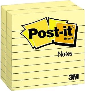 Post-it Notas 10 x 10 cm, 2 blocos, notas adesivas favoritas número 1 dos EUA, amarelo canário, remoção limpa, reciclável...