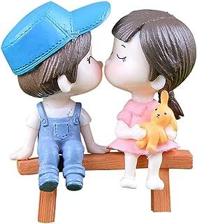 💗 Orcbee 💗 _1 Set Cute Lovers Chair Miniature Landscape DIY Ornament Garden Dollhouse Decor