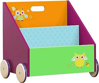 Labebe Etagère Bois, Etagère Rangement pour Enfant en 1 an Plus sur Le Design avec Hibou Vert, Bibliothèque Enfant avec de...