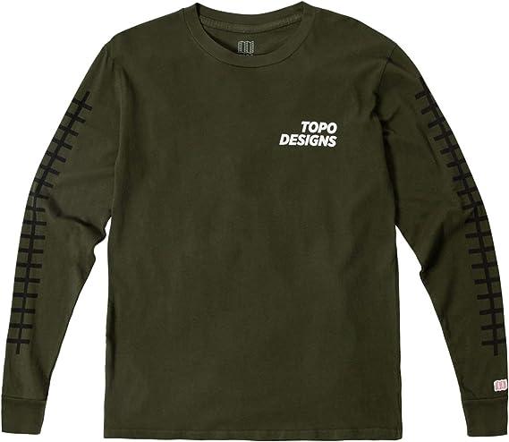 Topo Designs Mens Grid Tee Long Sleeve