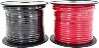 GS Power 10 Gauge Stranded Flexible Copper Clad Aluminum CCA Primary Automotive Wire for Car Audio Video Amplifier 12 Volt Trailer Harness Hookup Drone Model Train Wiring. 100ft Red & 100 ft Black