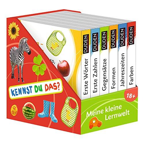 Kennst du das? Meine kleine Lernwelt: ab 18 Monaten (DUDEN Pappbilderbücher Kennst Du das?): 6 Mini-Bücher (Pappbilderbuch Bücher-Würfel, Band 3)