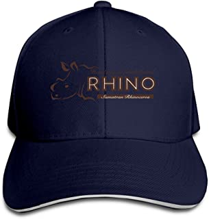 Rhino Hunting Is Prohibited Trucker Unisex Adjustable Sandwich Cap