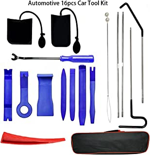 Sponsored Ad - Automotive 16PCS Car Tool Kit, Automotive Car Tool with Long Reach Grabber, Air Pump Bag,Non Marring Wedge,...