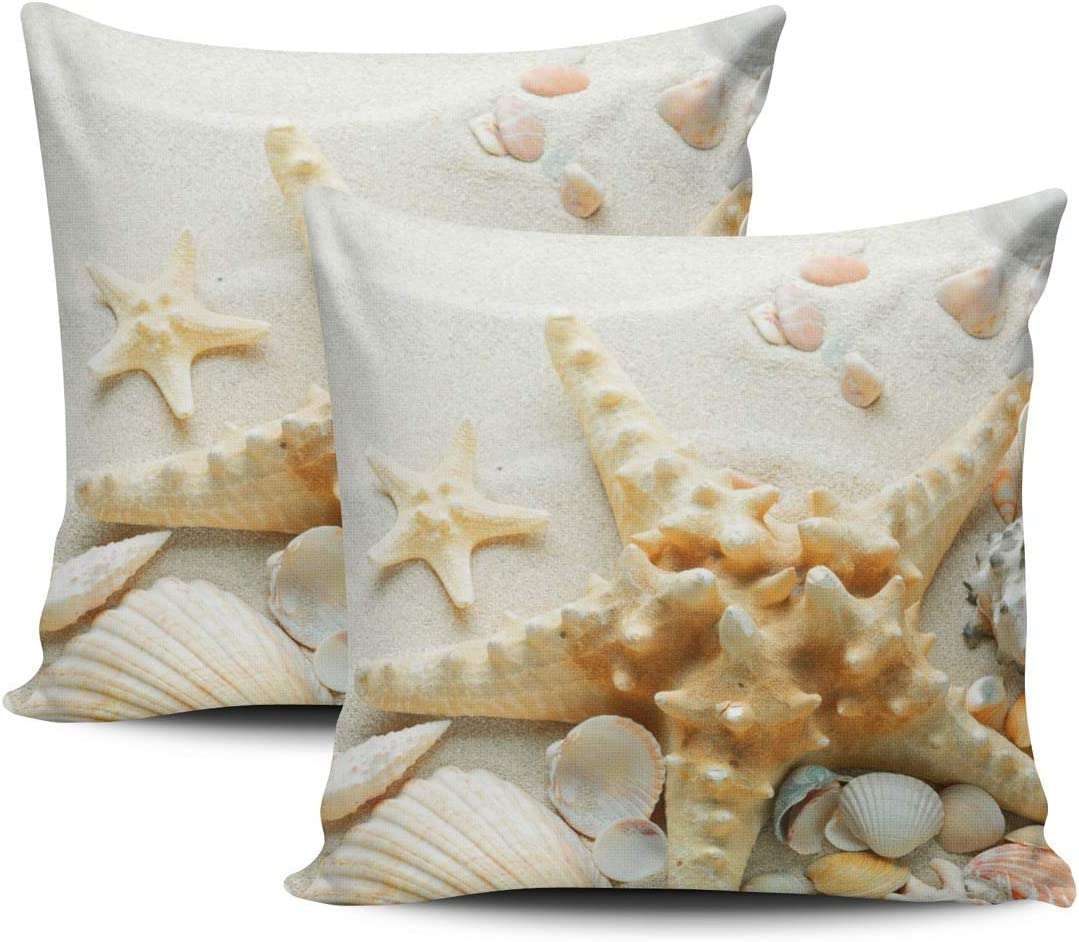 GERERIC Throw Pillow Covers Beige and Pillowc Starfish Don't Latest item miss the campaign Seashells