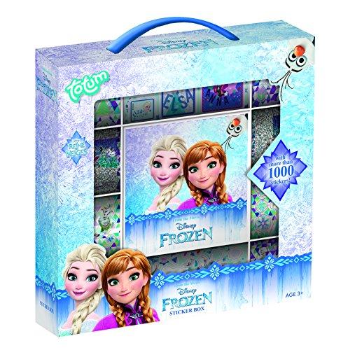 Disney Frozen Stickerbox mit über 1000 Stickern auf 12 Rollen mit Motiven von Anna & Elsaund dem niedlichen Olaf und 1 Aufklebehintergrund