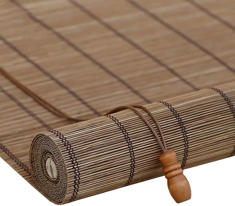 Persiana enrollable Cortina de Bambu Bambú para Puerta, Estores para Ventana, Cortina De Uso Fácil, Múltiples Tamaños (Color   Flat Curtain, Tamaño   50x90cm)