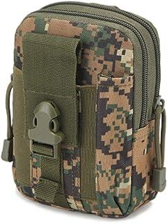 Jipemtra Tactical Modular Molle Pouch Bag EDC Utility Gadget Pocket Hip Waist Belt Bag Pack Camping Hiking Outdoor Gear Cell Phone Holster Holder Purse Phone Case
