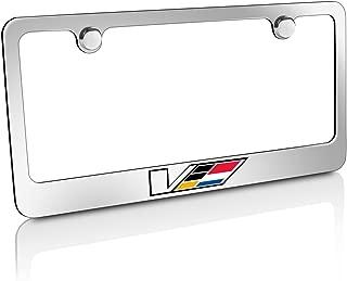 Cadillac V Logo Chrome Solid Brass License Frame
