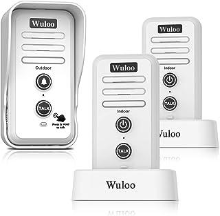 Wireless Intercom Doorbell Chime for Home Intercomunicador (1T2 White)