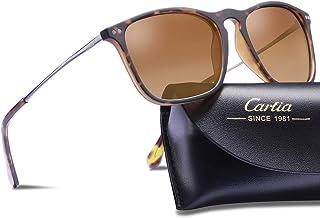 7b6d53de42d Carfia Polarized Sunglasses for Women Men Vintage Style 100% UV400  Protection