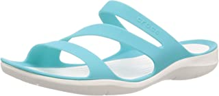 Crocs Swiftwater Womens Open Toe Sandals, Blue, 11 US