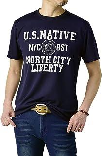 (フラグオンクルー) FLAG ON CREW Tシャツ 半袖 メンズ 吸汗速乾 tシャツ アメカジ ミリタリー カットソー / D1J