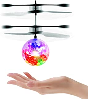 LESHP RC Toy, RC Flying Ball Drone, RC Infrared Induction Helicopter Ball Drone, Built-in Hoover LED Lighting for Kids, Teenagers Colorful Flying Drone for Kid and Adults