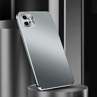 IPhone 12携帯電話ケース、iPhone 12 Proメタルカメラオールインクルーシブ保護ケース、iPhone 12 Pro Max落下防止超薄型レンズ保護カバー,Silver-iPhone 12(6.1)