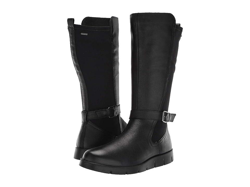 ECCO Bella GORE-TEX(r) Tall Boot (Black Cow Leather/Stretch) Women