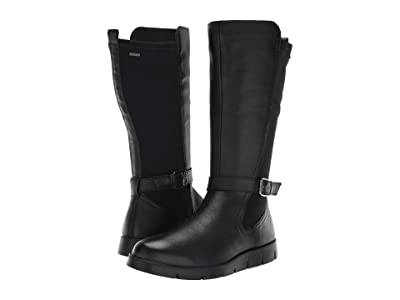 ECCO Bella GORE-TEX(r) Tall Boot (Black Cow Leather/Stretch) Women