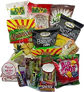 DJ's SnackShack- Guilt Free Snack! Care Package 35 Count, Assortment of Caribbean Chips, Cookies, Candies, Crackers and More !!