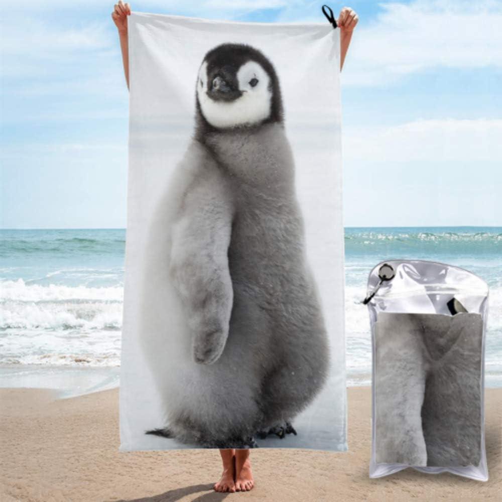 AIKENING Fashion Beach Towel Easy-to-use Emperor Penguin Chicks Animal San Francisco Mall Micro