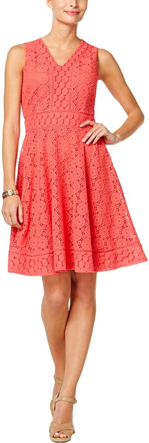 Charter Club Womens Lace Fit & Flare Cocktail Dress