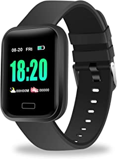 KULUNER Fitness Tracker, Activity Tracker Watch with Heart Rate Monitor, Waterproof Color Screen Smart Bracelet with Step Counter, Calorie Counter, Pedometer Watch for Men Women and Kids