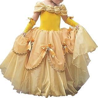 Vestiti Carnevale Bambini Costumi Bambina Principessa Belle Vestito Carnevale Lunga Manica Festa Nuziale Compleanno Cerimo...