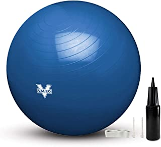 Valeo Exercise Body Ball - Professional Grade Anti-Burst Fitness,  Balance Ball for Pilates,  Yoga,  Stability Workout & Training Physical Therapy