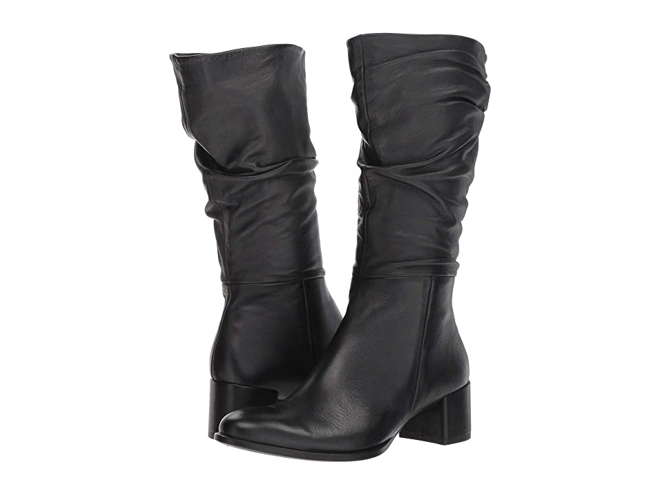 ECCO Shape 35 Slouch Boot (Black Calf Leather) Women