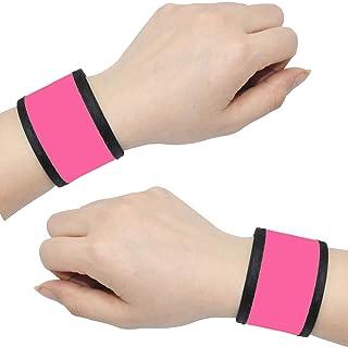 دستبندهای Slow Slamp LED AMNQUERXUS روشن مچبندهای بازوی مچ دست نوارهای مچی دید بالا چراغ های دنده ایمنی برای دوچرخه سواری پیاده روی در حال اجرا کنسرت کمپینگ ورزش در فضای باز ، متناسب با زنان مردان مردان