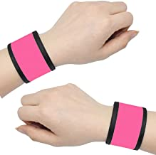 AMNQUERXUS LED Glow Slap Bracelets Light Up Wristbands Flashing Arm Wrist Bands High Visibility Safety Gear Lights for Cyc...