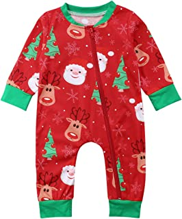 02af27f2a2a Family Matching Christmas Pajamas Set Kid Baby Matching Tops Pants Romper  Set